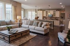 Country Style Neutral Living Room