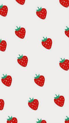 Strawberries~ Iphone Wallpaper Vsco, Iphone Wallpaper Tumblr Aesthetic, Iphone Background Wallpaper, Aesthetic Wallpapers, Ipad Background, Background Pictures, Cute Pastel Wallpaper, Kawaii Wallpaper, Avocado Cartoon