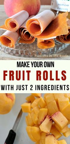 Make your own fruit rolls with just 2 ingredients. No preservatives or fillers in this healthy fruit leather, just natural fruit and honey. Fruit Snacks, Fruit Recipes, Real Food Recipes, Snack Recipes, Homemade Fruit Leather, Fruit Leather Recipe, Canning Recipes, Jar Recipes, Freezer Recipes
