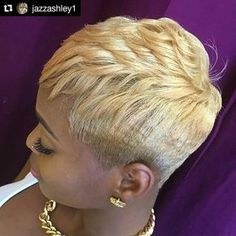 Style from @jazzashley1 of Jasmine Ashley Salon in Los Angeles, California #Repost @jazzashley1 ・・・ ❤️✂️❤️ #thecutlife #wilshiresfinest #jasmineashleysalon #jazzashley #jazzashley1 #blonde#shorthair #lahairstylist #lahair Hair Salon Finder www.afrohair.com