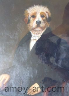 AA04DG001 (10)-Dog-China Oil Painting Wholesale | Portrait Oil Painting| Museum Quality Oil Painting Reproductions