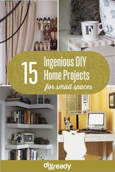 15 Ingenious DiY Projects for small spaces! See them all at DiyReady