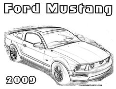 Ford Mustang Cars Coloring Pages