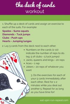 Fit Bit Friday 201: The Deck of Cards Workout - Eat Spin Run Repeat