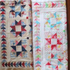 Lots of fiddly repetitive work here. I do absolutely love these two quilts.