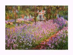 """""""Le Jardin de Monet, les iris"""" Claude MONET (1900) Musée d'Orsay, Paris"""