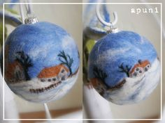 Needle felted Christmas Ornaments by Apuni.