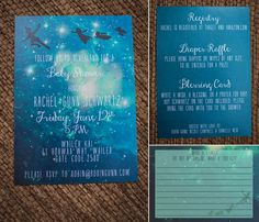 Invitations for a Peter Pan inspired baby shower. By Simply Maui Photography, www.simplymauiphoto.com