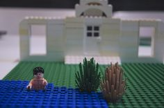 """""""Mr Darcy in the Lake"""" - (inspired by) Pride and Prejudice by Jane Austen.   5 Marvellous Literary Scenes Made Out Of Lego"""