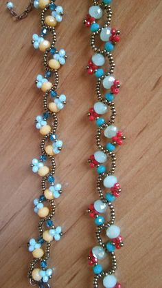 pretty beaded vines - great for bracelets