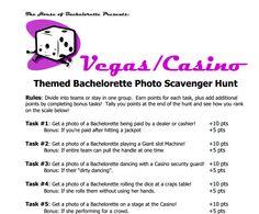 Las Vegas Bacherlorette Scavenger Hunt Printable CheckList - Free  #Bacherlorette ScavengerHuntChecklist