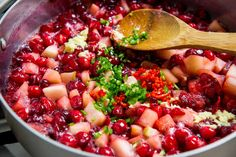 Thanksgiving Condiments Complement the Meal (spicy cranberry-apple relish)