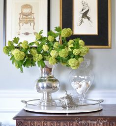 Viburnum via Centsational Girl Blog. Viburnum by itself is so beautiful especially in a vase like this where it can be shown off for it's natural beauty!