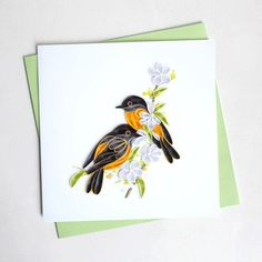 Oriole Quilling Card