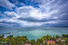 Dramatic view of clouds over Lake Balaton