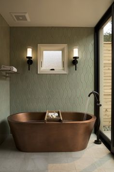Every bathroom remodel starts with a layout suggestion. From complete master bathroom renovations, smaller visitor… – Contemporary bathroom design ideas. Every bathroom remodel starts with a layout suggestion. Bathroom Spa, Bathroom Colors, Small Bathroom, Bathroom Ideas, Accent Wall In Bathroom, Green Bathroom Tiles, Bathroom Bench, Spa Inspired Bathroom, Copper Bathroom