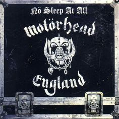 "Oct 1988 – 27 years ago today, Official Motörhead released their live album, ""No Sleep At All."" It was recorded on July 1988 at a Giants Of Rock Festival performance in Hämeenlinna, Finland. Woodstock, Hard Rock, Hair Metal Bands, Rock Cover, Rock Festivals, Metal Albums, Heavy Metal Music, Cd Album, Album Covers"