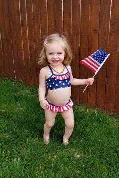 Cute Black Babies, Cute Babies, Patriotic Swimwear, Star Bikini, Mehndi Art Designs, Red Gingham, Kids Swimwear, Swim Bottoms