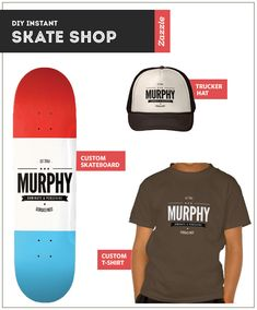 Ultimate Personalized Holiday Gift Ideas: DIY Instant Skate Shop for Kids from #zazzle