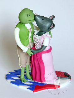 Hochzeitstortenfiguren frosch