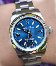 Ladies Rolex Oyster Perpetual 176200 26mm Blue As New £3150. Boxed, certified Jan 2017 and ready to ship! Big savings from high street.