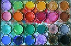 paint buckets...more fun and messy colors