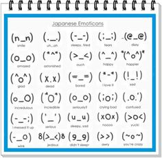 Kawaii japanese emoticons ^-^