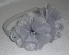 Tiara Duas Flores prata