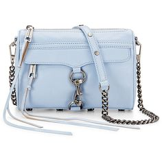Rental Rebecca Minkoff Handbags Blue Mini Mac Cross Body Bag ($30) ❤ liked on Polyvore featuring bags, handbags, shoulder bags, purses, blue, blue shoulder bag, crossbody purse, leather handbags, blue handbags and genuine leather handbags