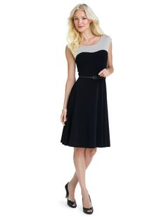 Two-Tone Ponte Dress (The Limited)