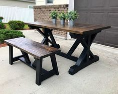 Farmhouse Table This listing is for a farm table with one bench. Available in any color