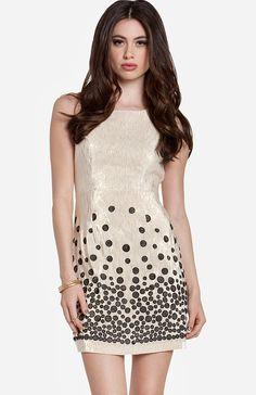 Spotted Metallic Dress