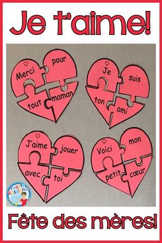 Comptine, carte et activités pour la fête des mères en français! Les élèves ont le choix de 2 poèmes faciles à réciter et à ajouter à une carte pour la fête de maman. L'activité pour les ateliers de lecture est parfaite pour pratiquer les mots fréquents et le vocabulaire facile. French Mother's Day poem, card and French reading activity! #fetedesmeres  #frenchimmersion Craft Projects For Kids, Diy For Kids, Activities For Kids, French Poems, Core French, French Immersion, Learn French, Classroom, Ajouter