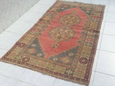 Turkish oushak rug handmade carpet, home decor kilims,overdyed rug, oushak rug, handwoven rug, area rug, wool carpet, distressed rugs, rugs by Simavrug on Etsy