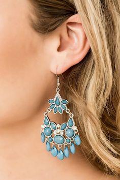 Garden Dream Blue Paparazzi Accessories Earrings
