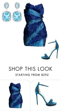 """Untitled #22609"" by edasn12 ❤ liked on Polyvore featuring Monique Lhuillier and Kiki mcdonough"