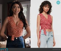 Haley's red floral wrap top on Modern Family Modern Family Sarah Hyland, Modern Family Haley, Modern Family Episodes, Date Outfit Casual, Date Outfits, Fashion Tv, Fashion Outfits, Fashion Ideas, Other Outfits