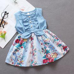 Girls Frock Design, Kids Frocks Design, Baby Frocks Designs, Baby Dress Design, African Dresses For Kids, Kids Outfits Girls, Toddler Girl Dresses, Little Girl Dresses, Girl Outfits