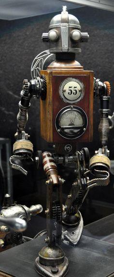 Dan Jone's steampunk Tinkerbots display at the San Diego Auto Museum's Steampunk exhibit. S)