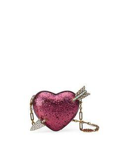 Gucci Broadway Glitter Resin Heart Minaudiere Clutch Bag Neiman Marcus 54f1529f22fca