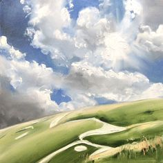 Buy White Horse of Uffington, Oil painting by Lin  Kerr on Artfinder. Discover thousands of other original paintings, prints, sculptures and photography from independent artists.