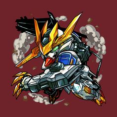 Shop The King gundam t-shirts designed by Ashmish as well as other gundam merchandise at TeePublic. Arte Gundam, Gundam Art, Gundam Head, Gundam Wing, K Dash, Barbatos Lupus Rex, Gundam Iron Blooded Orphans, Gundam Astray, Pixel Animation