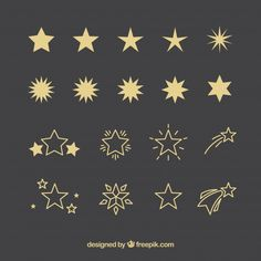 Star Vectors, Photos and PSD files Tribal Tattoos, Cute Tattoos, Body Art Tattoos, Tatoos, Tattoos Skull, Tattoo Estrela, Tattoo Etoile, Tattoos Infinity, Small Star Tattoos