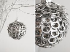 9 Handmade Ornaments Made From Recycled Items 9 Handmade Ornaments Made From Recycled Items – Recycled Crafts Diy Christmas Decorations Easy, Diy Christmas Tree, Simple Christmas, Tree Decorations, Diy Decoration, Homemade Christmas, Holiday Decorating, Christmas Christmas, Handmade Ornaments