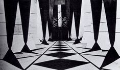 Algol 1920 - A still from Algol showing the futuristic scenography created by Walter Reimann, also production designer of Caligari