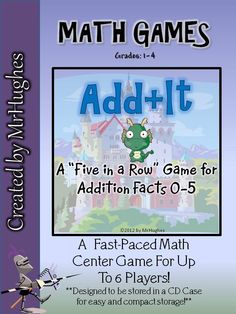 Need a fun and interactive math center? This is the one for you. Up to 6 players and designed to fit in a CD case. Check it out!
