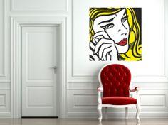 Pop Art inspired by Roy Lichtenstein Crying Girl by cutnpasteshop, $55.00