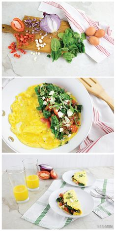 Skinny Greek Omelette. I SO need to eat this!
