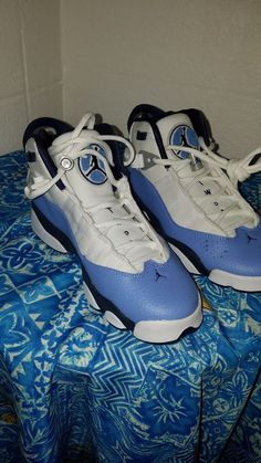 abf139cd5faf81 Details about Nike Air Jordan 6 Rings GG Youth White UNC Blue Navy 323399  115 Msrp  130 LD