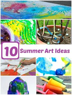 10 Summer Art Projects for kids!